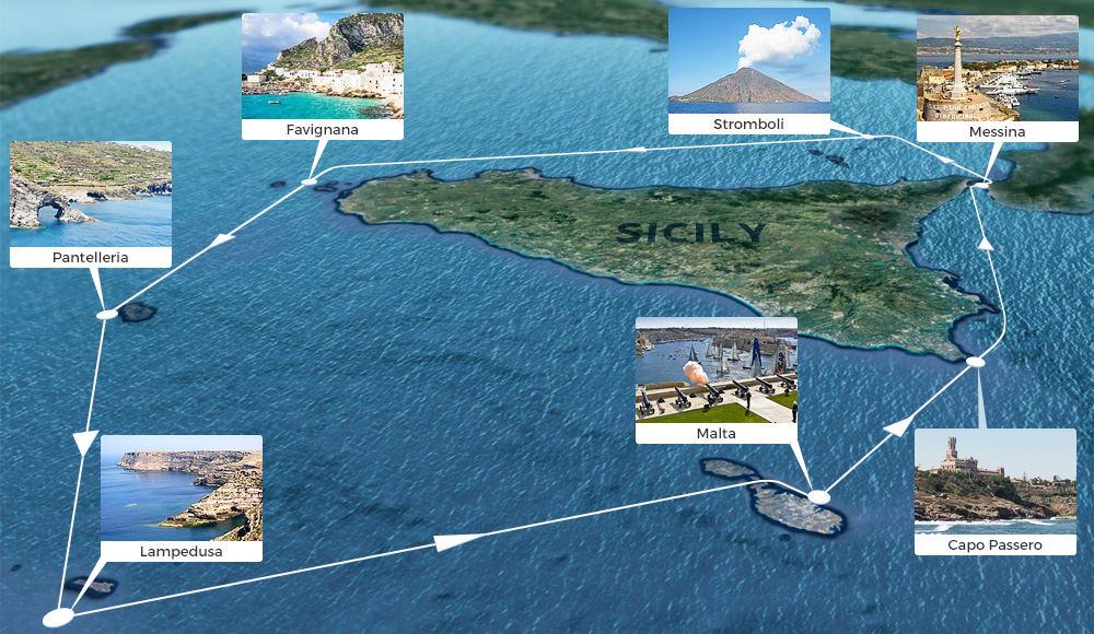 Trasa Rolex Middle Sea Race